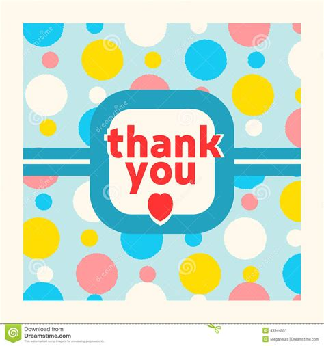 thank you card design template thank you card design template stock vector image 43344851