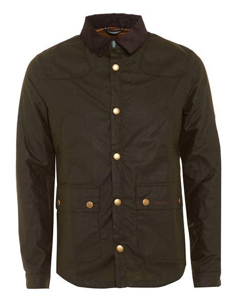 barbour heritage mens jacket reelin slim wax fern jacket