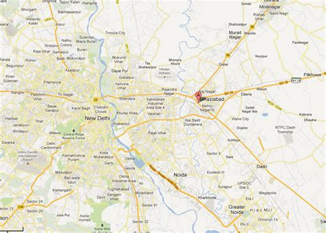 ghaziabad in india map ghaziabad map