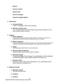 business company profile templatedocdoc765