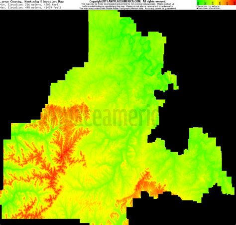 kentucky elevation map free larue county kentucky topo maps elevations
