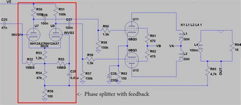 ltspice diode model audio simulating triodes in ltspice pair phase splitter electrical engineering