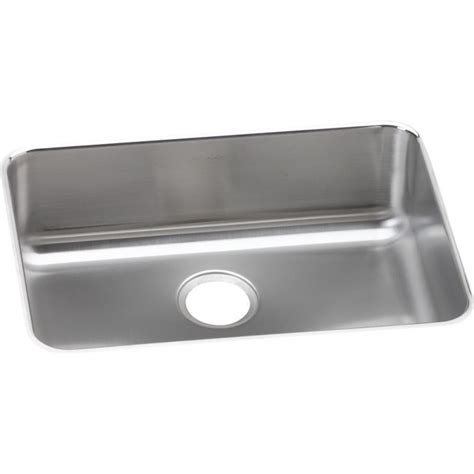 elkay kitchen sinks undermount elkay eluh2317 gourmet lustertone stainless steel single