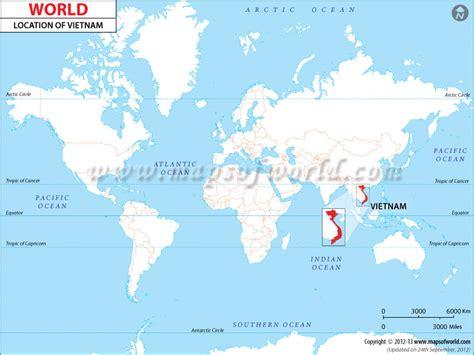 Vietnam On World Map by Where Is Vietnam Location Of Vietnam