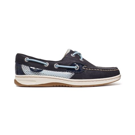 blue sperry boat shoes lyst sperry top sider womens bluefish boat shoes in blue