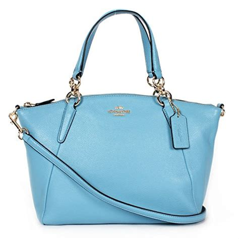 Promo Tas Branded Coach Small Kelsey Gold Tas Coach Original Nwt Ns coach small kelsey satchel in pebble leather bluejay accessorising brand name designer