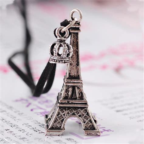 Fashion Eiffel Tower Necklace vintage fashion eiffel tower shape sweater pendant