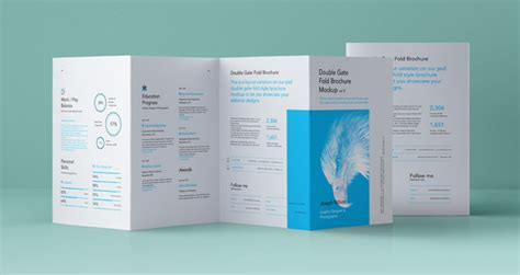 gate fold brochure psd gate fold brochure vol5 psd mock up templates