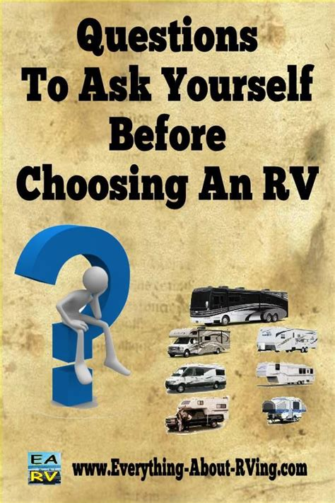 questions to ask yourself about what type of rv is right