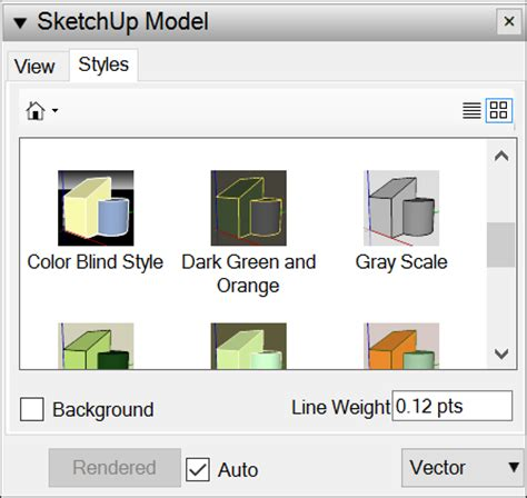 sketchup layout viewport editing a sketchup model s view and style settings in