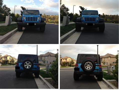 Jeep Jk Wheel Spacers Before And After 305 70r16 On 16x10 With No Lift