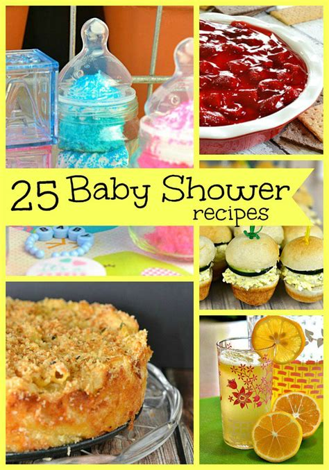 Recipes For A Baby Shower by 25 Baby Shower Recipes