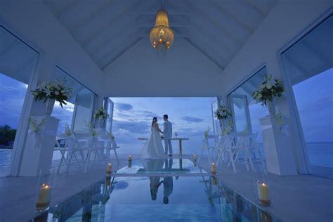 Maldives Wedding Glass Aisle by Maldives Wedding Chapel Four Seasons Landaa Giraavaru