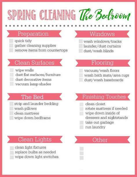 bedroom cleaning checklist bedroom spring cleaning checklist cleaning checklist