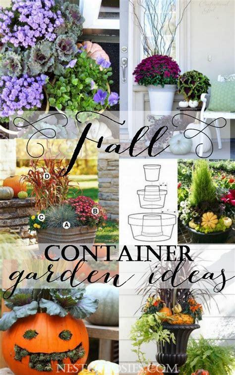 fall container garden ideas fall container garden ideas