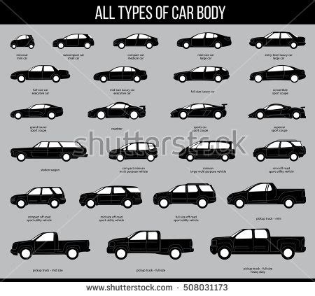 Different Car Types Uk by All Types Car Bodies Car Type Stock Vector 513457756