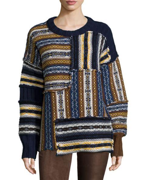 Patchwork Sweater - joseph fair isle patchwork sweater