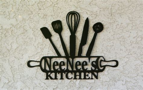Metal Kitchen Signs by Kitchen Metal Sign Kitchen Sign Personalized Kitchen Sign