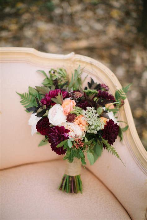 Fall Wedding Flowers by Inspiration Fall Woodland Elopement Shoot 187 Naturally