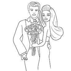 ken doll coloring page barbie on the beach with ken ken doll coloring page