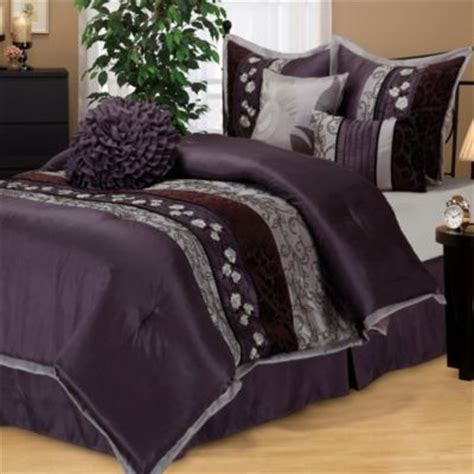 purple comforter set king buy purple king comforter sets from bed bath beyond