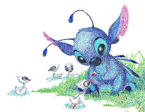 stitches painting stitch pointillism by theviresam deviantart