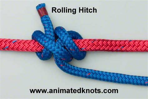 Hitch Knot - rolling hitch how to tie the rolling hitch knots