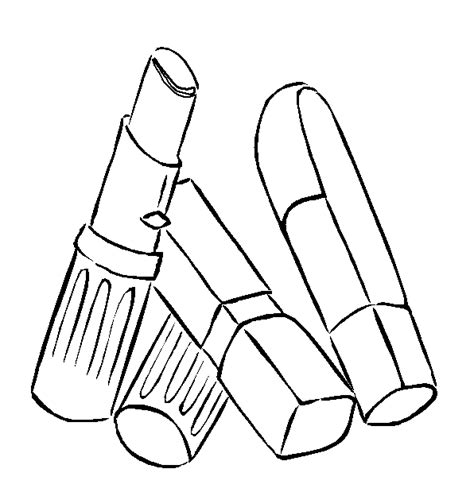 free coloring pages of makeup