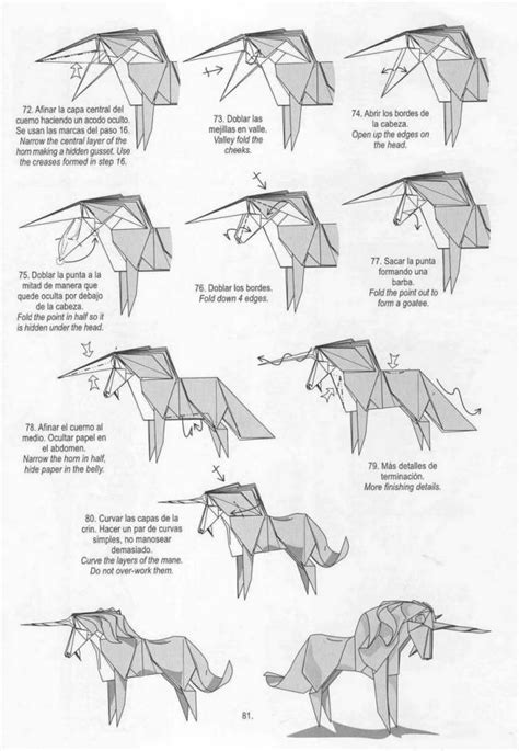How To Make Origami Unicorn - free coloring pages how to make origami unicorn bird mony