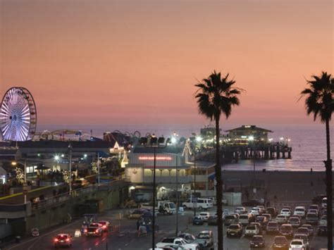 California Search Los Angeles California Los Angeles Santa Santa Pier Dusk Usa Photographic Print