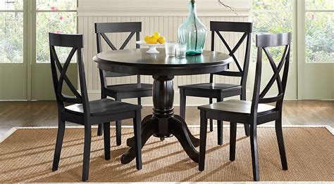 Brynwood Black 5 Pc Round Dining Set   Dining Room Sets Black