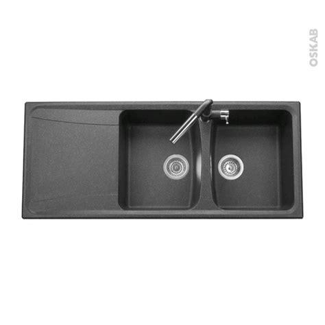Evier 2 Bacs Granit Noir by Evier De Cuisine Ofento Granit Noir 2 Bacs 233 Gouttoir 224