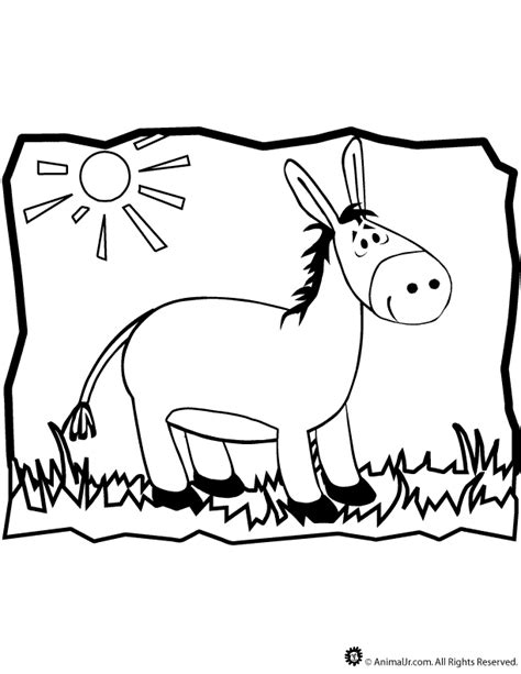 donkey coloring page woo jr kids activities