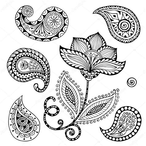paisley doodle vector free henna paisley mehndi doodles abstract floral vector