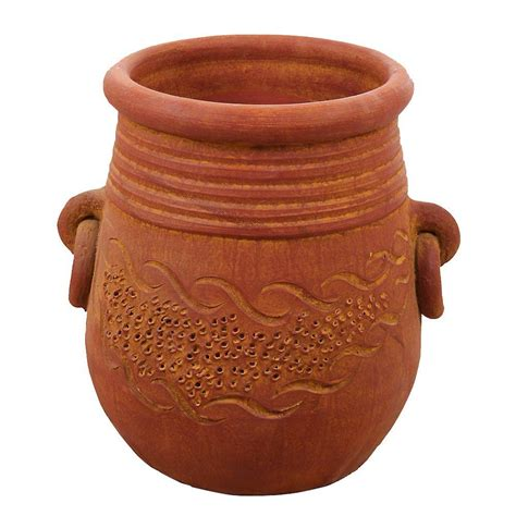 Clay Pots Planters by Margo Garden Products 15 In Terra Cotta Mao Clay
