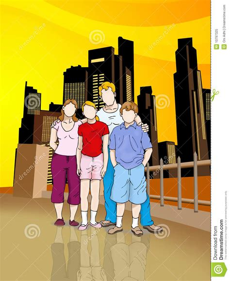 imagenes familias urbanas familia urbana stock de ilustraci 243 n ilustraci 243 n de