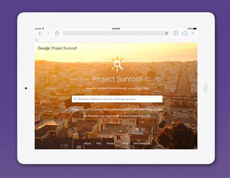 google project sunroof on your roof carousel creative project sunroof on sva portfolios