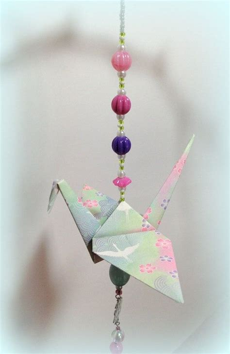 How To Make Origami Hanging Decorations - best 20 origami cranes ideas on origami paper
