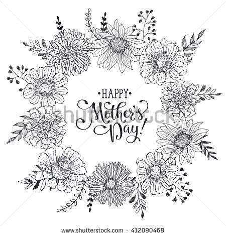 s day card template free mothers day greeting card template happy stock vector
