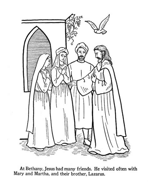 coloring pages jesus and martha 437 best images about nieuwe testament on
