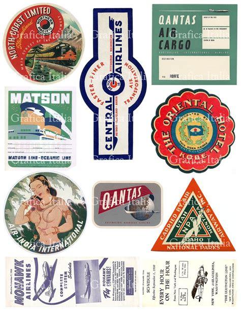 Kofferaufkleber Mallorca by 10 Travel Stickers Clipart Retro Digital Printable