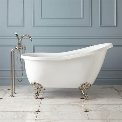 ultra acrylic slipper clawfoot tub bathroom