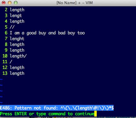 pattern matching vim regex find all word non matching pattern in vim stack