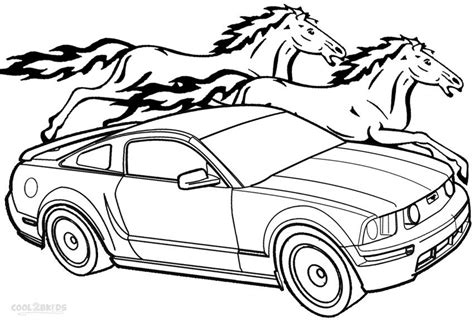 mustang car coloring pages free az coloring pages