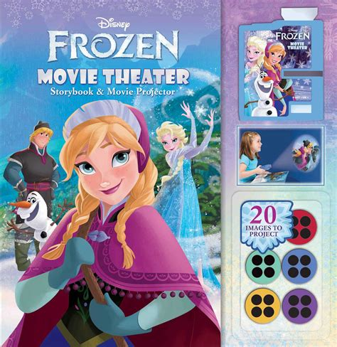 film frozen cinema disney frozen movie theater storybook movie projector