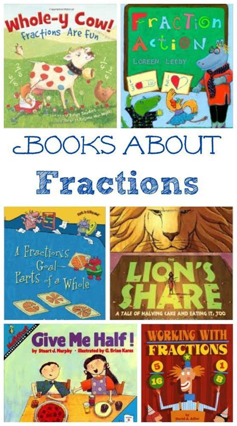 fraction picture books fractions math activities and kid books on