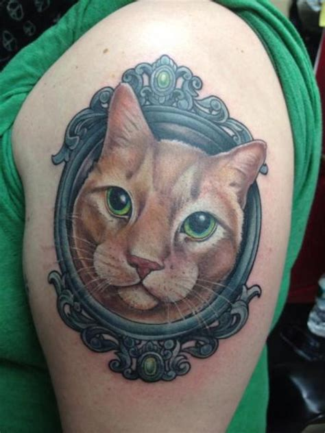 tattoo old school gato tatouage r 233 aliste miroir chat par good mojo tattoos