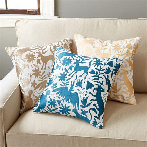 Ballard Designs Pillows otomi embroidered pillow ballard designs