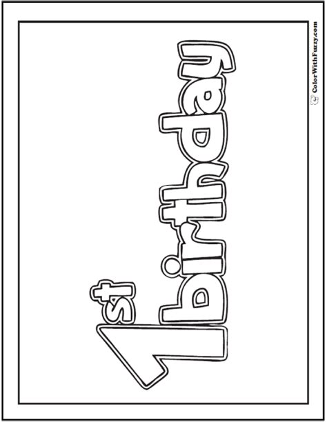 first birthday cake coloring page image inspiration of