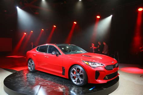 What Company Makes Kia 2018 Kia Stinger Makes World Debut At Northern American